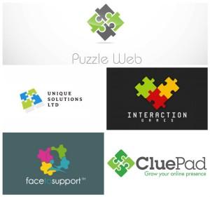 Generic-and-cliche-design-puzzle-logo